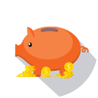 Circle Piggy Bank Icon
