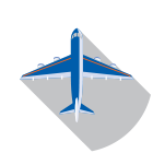Circle Icon With Plane